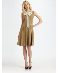 Robert Rodriguez | Embroidered Pleated Dress | Lyst