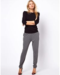 ASOS Collection Asos Peg Trouser in Charcoal Marl - Lyst
