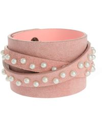 ASOS - Limited Edition Pearl Wrap Bracelet - Lyst