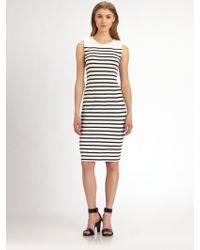 By Malene Birger Striped Knit Dress - Lyst