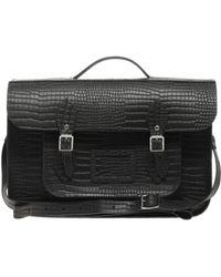 Cambridge Satchel Company - The Cambridge Satchel Company 15 Leather Mock Croc Satchel - Lyst
