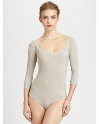 Donna Karan New York Scoopneck Bodysuit - Lyst