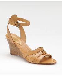 Elie Tahari - Anklestrap Wedge Sandals - Lyst