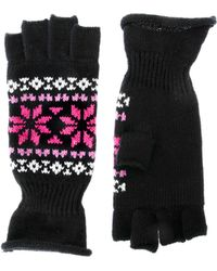 French Connection Fair Isle Fingerless Gloves - Lyst