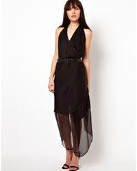 Improvd - Solange Draped Wrap Dress - Lyst