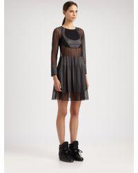 Junya Watanabe - Mesh Silk Jersey Dress - Lyst