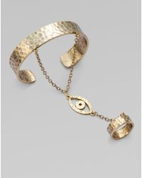 Low Luv by Erin Wasson Evil Eye Bracelet with Attached Ring - Lyst