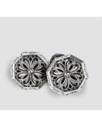 Scott Kay Engraved Silver Cuff Links - Lyst