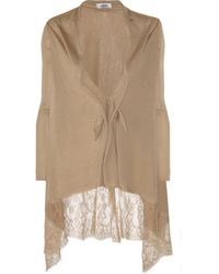 Valentino Lace-Trimmed Wool-Blend Cardigan - Lyst