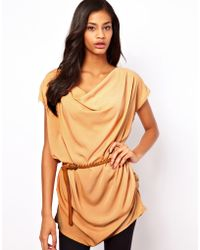 Wal-G - Drape Top with Belt - Lyst