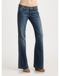 7 For All Mankind Dojo Flared Jeans - Lyst