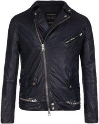 AllSaints Ishida Leather Biker Jacket - Lyst