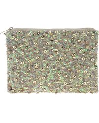 Asos Sequin and Embellishment Zip Top Clutch Bag - Lyst