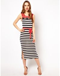 French Connection Stripe Mix Maxi Dress - Lyst