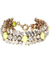 J.Crew Crystal and Neon Chevron Bracelet yellow - Lyst