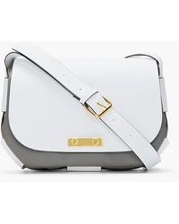Marni White Twotone Leather Shoulder Bag - Lyst