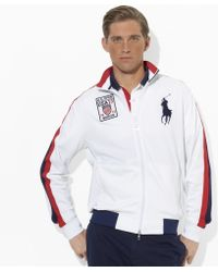 Polo Ralph Lauren | Us Open Full Zip Mock Neck | Lyst