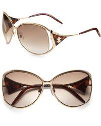 Roberto Cavalli Oversized Metal Sunglasses - Lyst