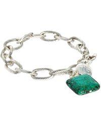 Sam Ubhi - Turquoise Stone Chunky Chain Bracelet - Lyst