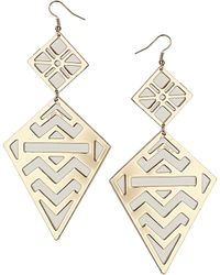 Topshop Cut Out Geo Earrings white - Lyst