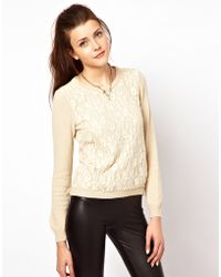 Insight - Vero Moda Sweater With Lace - Lyst