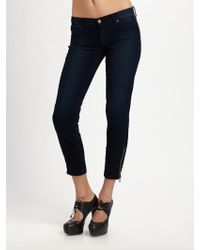 7 For All Mankind Corduroy Skinny Cropped Jeans - Lyst