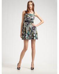 D&G Floral Silk Mini Dress - Lyst