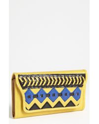 Jessica Simpson | Somali Faux Leather Checkbook Wallet | Lyst