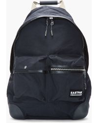Kris Van Assche Black Leathertrimmed Backpack and Tablet Case - Lyst