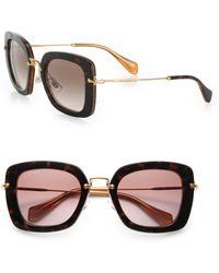 Miu Miu Square Catwalk Sunglasses - Lyst
