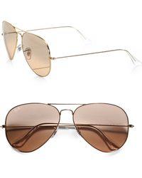 Ray-Ban Original Aviator Sunglasses pink - Lyst