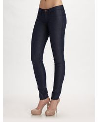 Rock & Republic - Fivepocket Low Rise Leggingsintensity Blue - Lyst