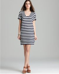 Theory  Karelo L Zephyr Stripe Wash Tee Dress - Lyst