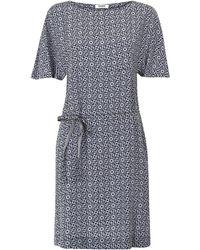 Farhi by Nicole Farhi - Blue Emily Tile Print Silk T-shirt Dress - Lyst