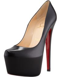 Christian Louboutin Daffodile Platform Red Sole Pump Black - Lyst