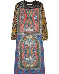 Clements Ribeiro - Amelia Printed Silk Dress - Lyst