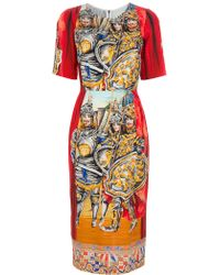 Dolce & Gabbana Sicilian Shift Dress - Lyst