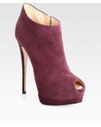 Giuseppe Zanotti Suede Platform Ankle Boots - Lyst