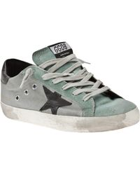 Golden Goose Deluxe Brand Superstar Lace Up Trainer - Lyst