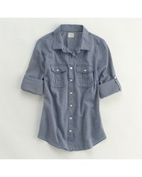 J.Crew Factory Camp Shirt in Endonend - Lyst