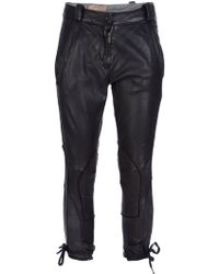 Le Cuir Perdu - Cropped Leather Trouser - Lyst