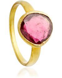 Pippa Small - Pink Tourmaline Greek Ring - Lyst