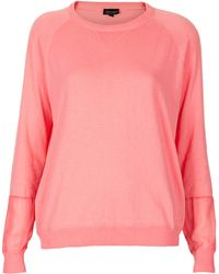 Topshop Knitted Fine Gauge Top - Lyst