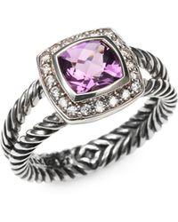 David Yurman - Amethyst Diamond Sterling Silver Ring - Lyst