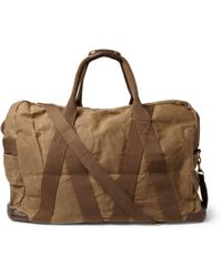 J.Crew | Abingdon Waxed Cotton Canvas and Leather Holdall | Lyst