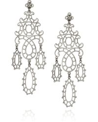 Laurent Gandini - Marie Antoinette Sterling Silver Lace Earrings - Lyst