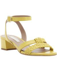 Pied a Terre | Lanikai Ankle Tie Block Heeled Shoes | Lyst
