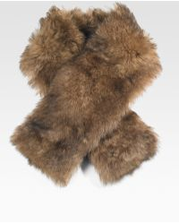 Ralph Lauren Blue Label - Lamb Shearling Muffler - Lyst