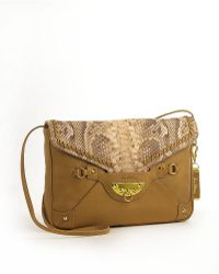 Sam Edelman Blair Snakeskin Leather Foldover Crossbody Bag - Lyst