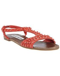 Steve Madden Nickiee T-Strap Sandals With Studded Accents - Lyst